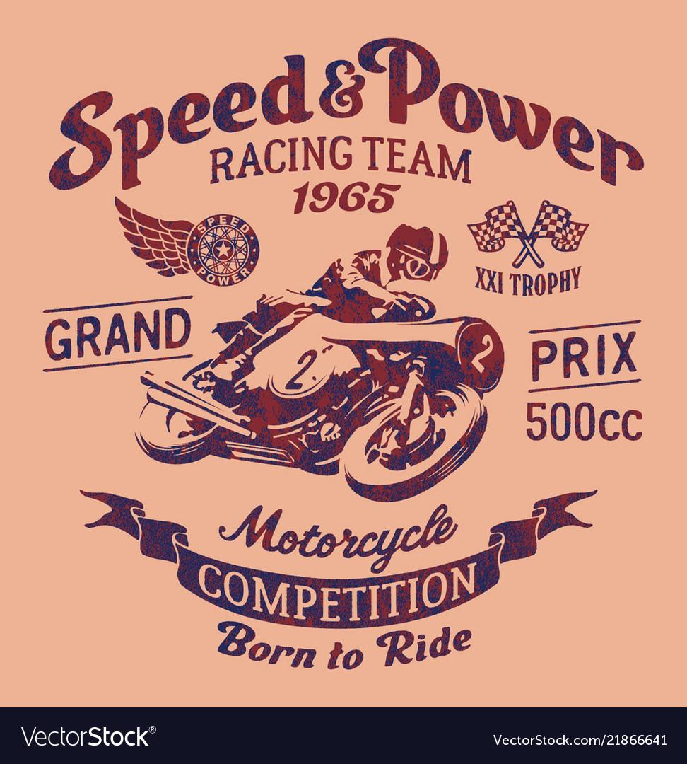 Speed power motorcycle racing team