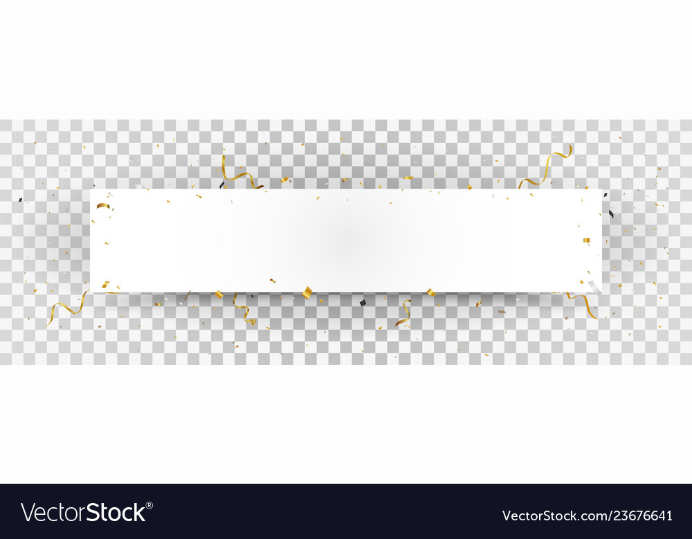White paper with gold confetti background