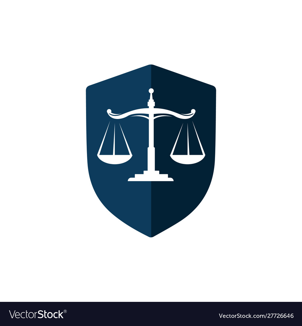 A stylish scales justice logo design for law