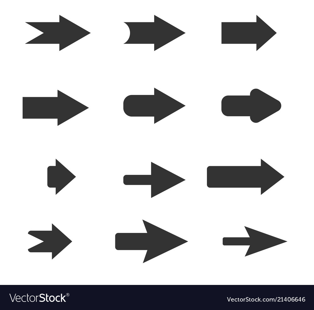 Arrows sign in trendy flat style on white