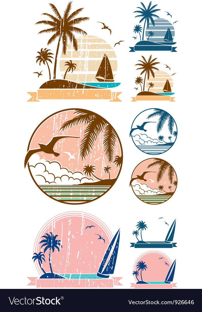 Beach symbols