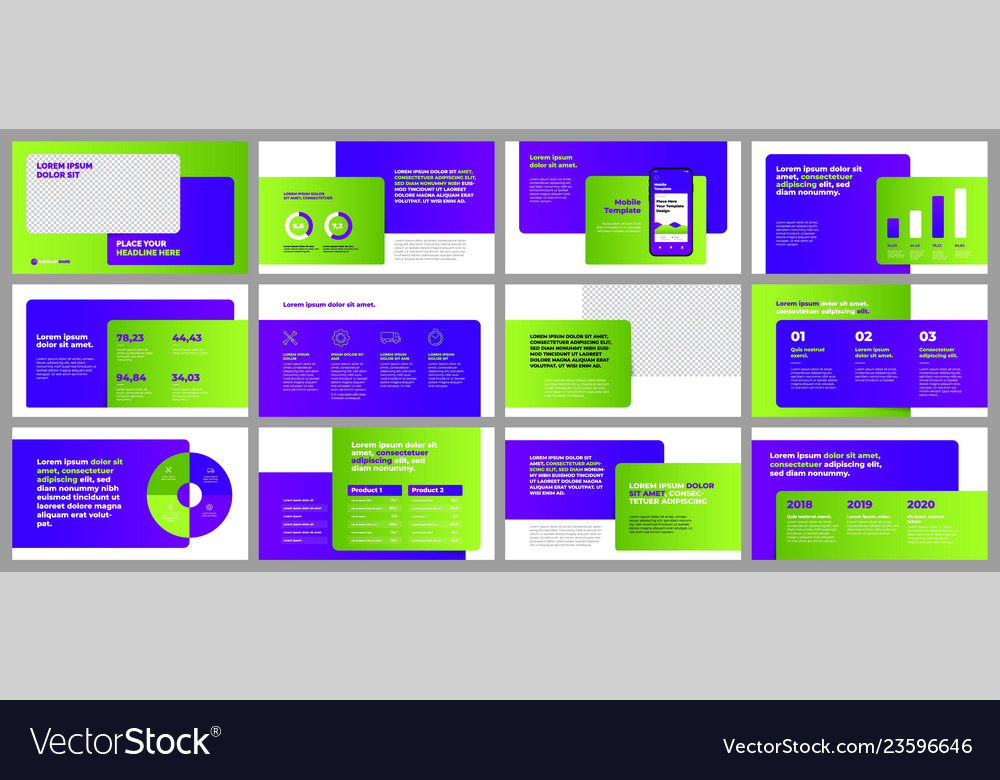 Colorful presentation templates elements