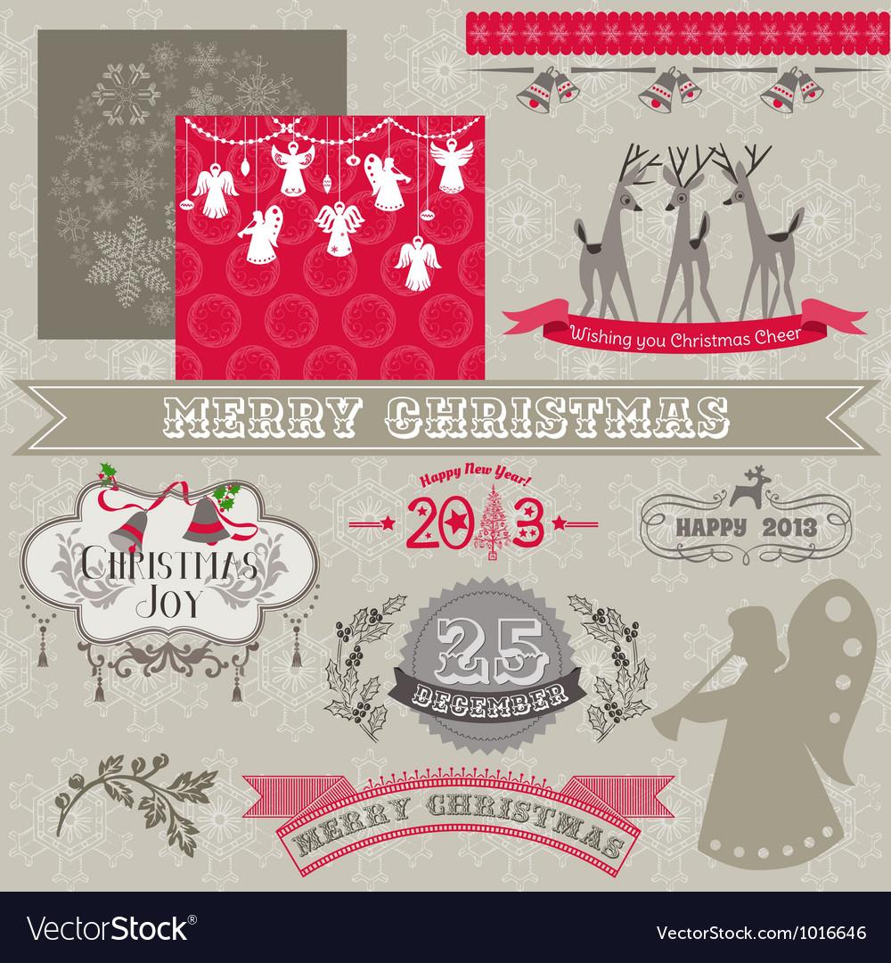 Design Elements - Vintage Merry Christmas