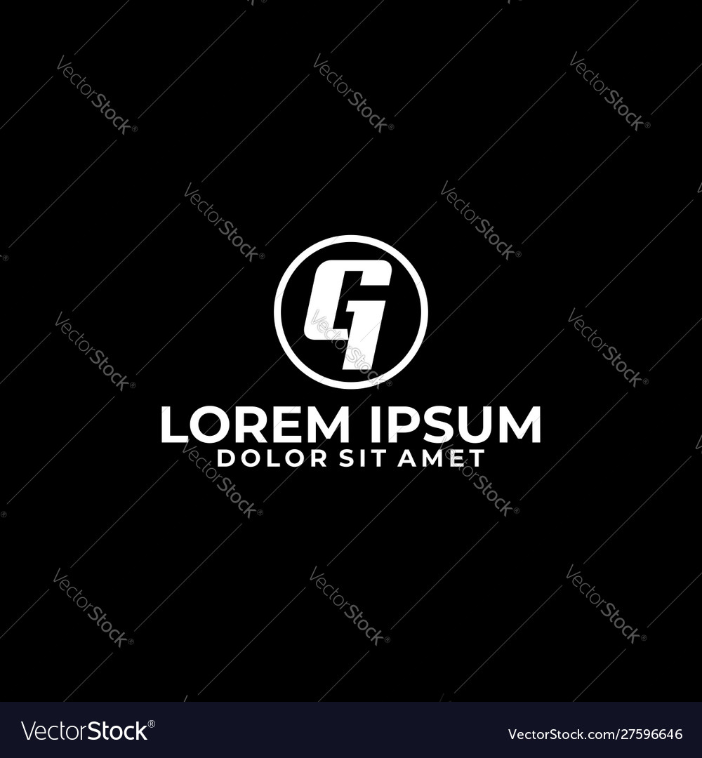 Initial letter g and number 1 logo template
