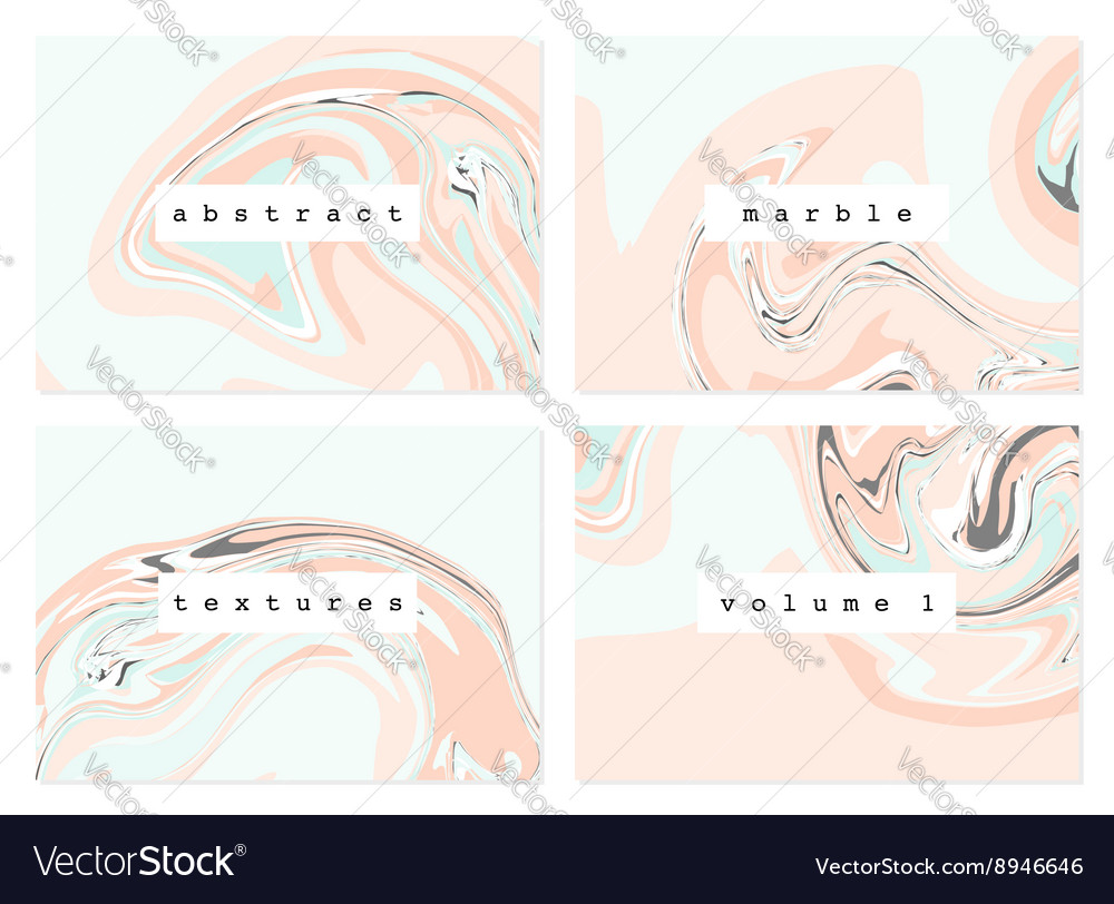 Marble Textures Collection vector image