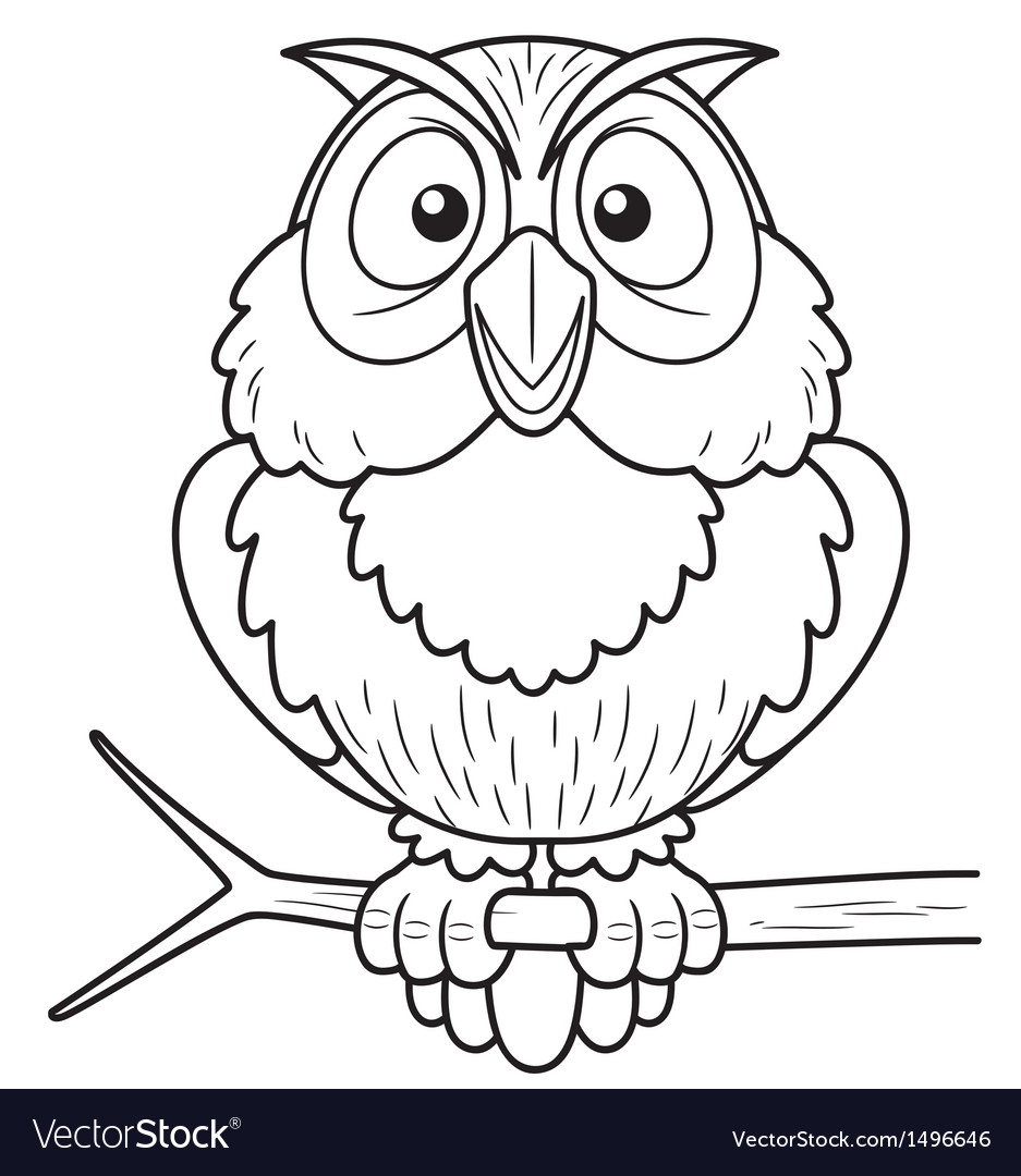 Owl outline vector image