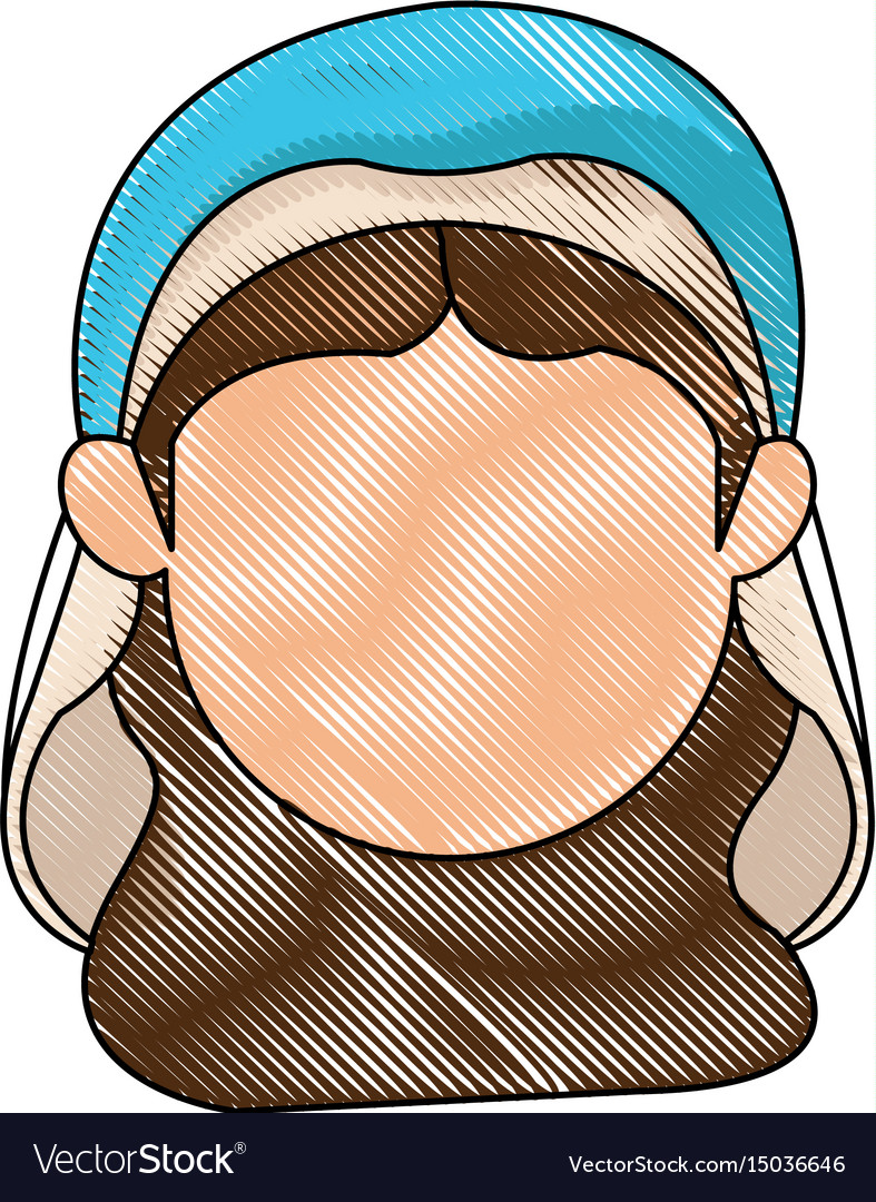 Virgin mary manger character design vector image