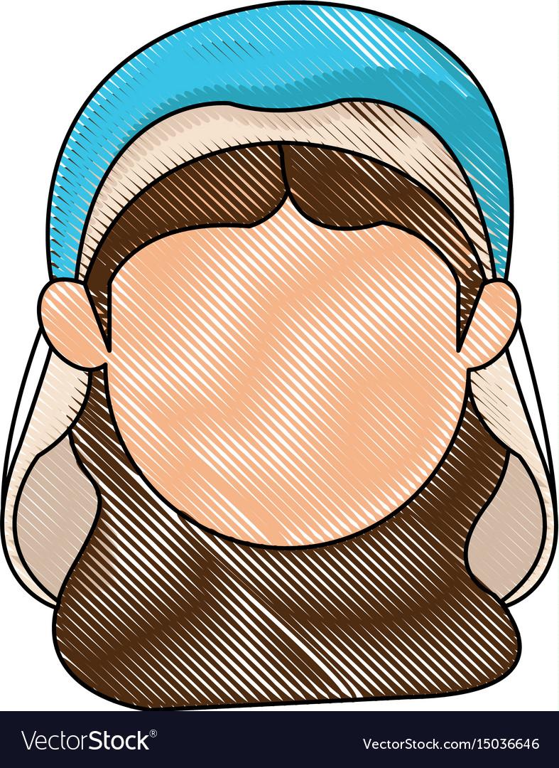 Virgin mary manger character design