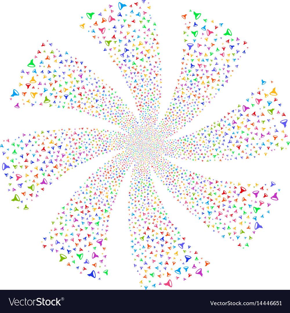 Filter fireworks swirl rotation