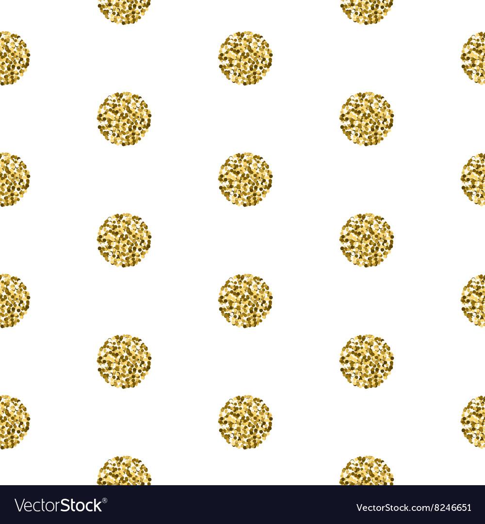 Gold foil shimmer glitter polkadot seamless