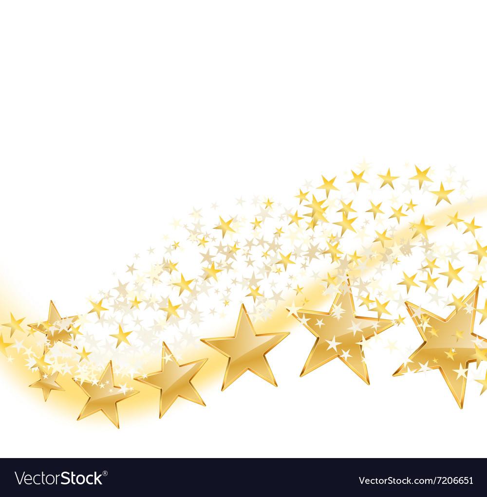 Golden stars flying