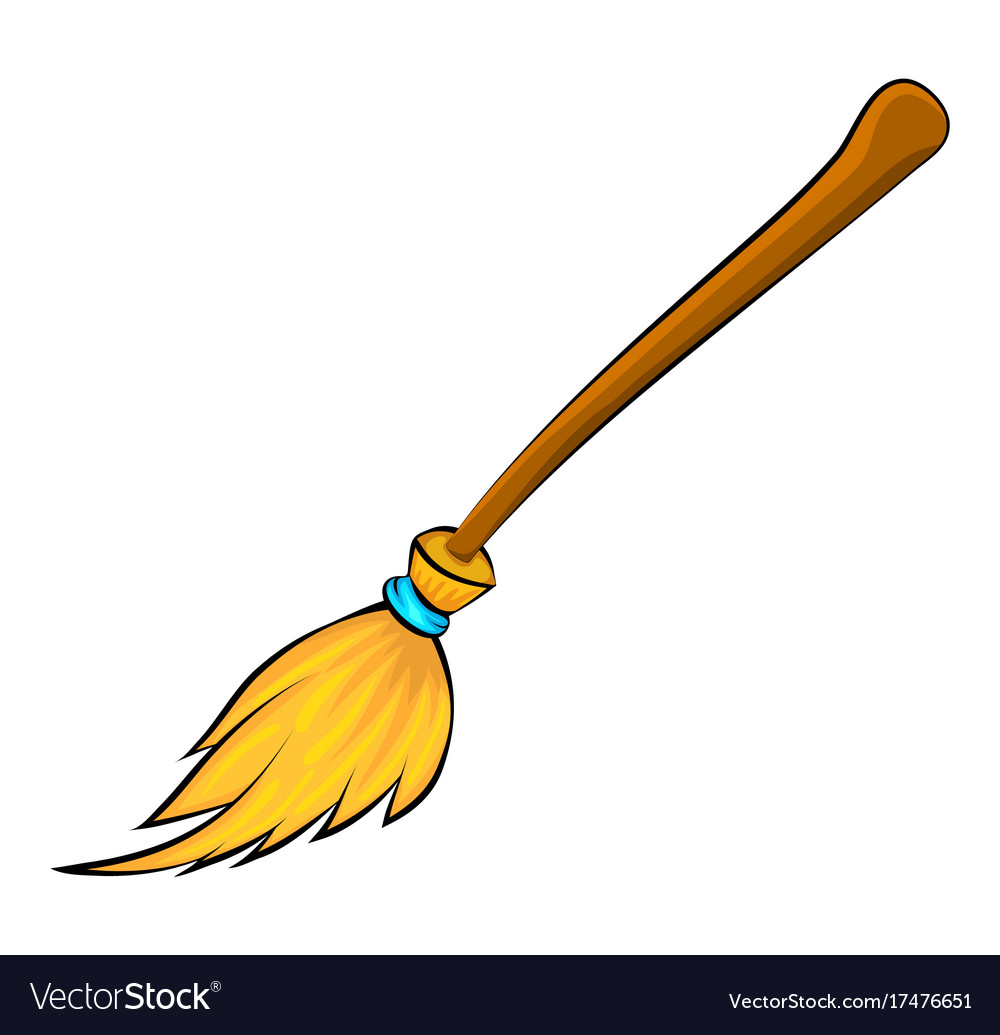 Halloween broomstick symbol icon design