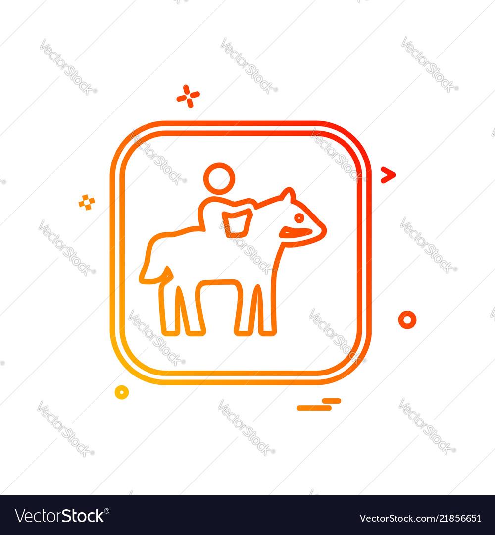 Horse riding icon design