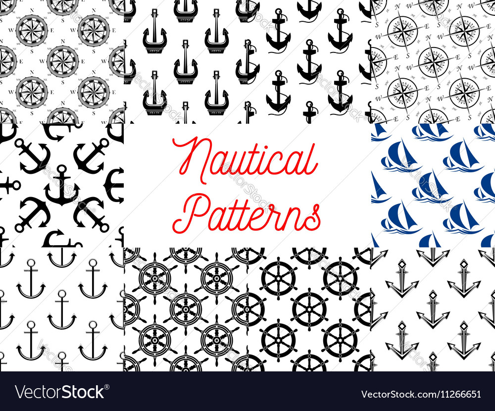 Nautical and marine concept patterns