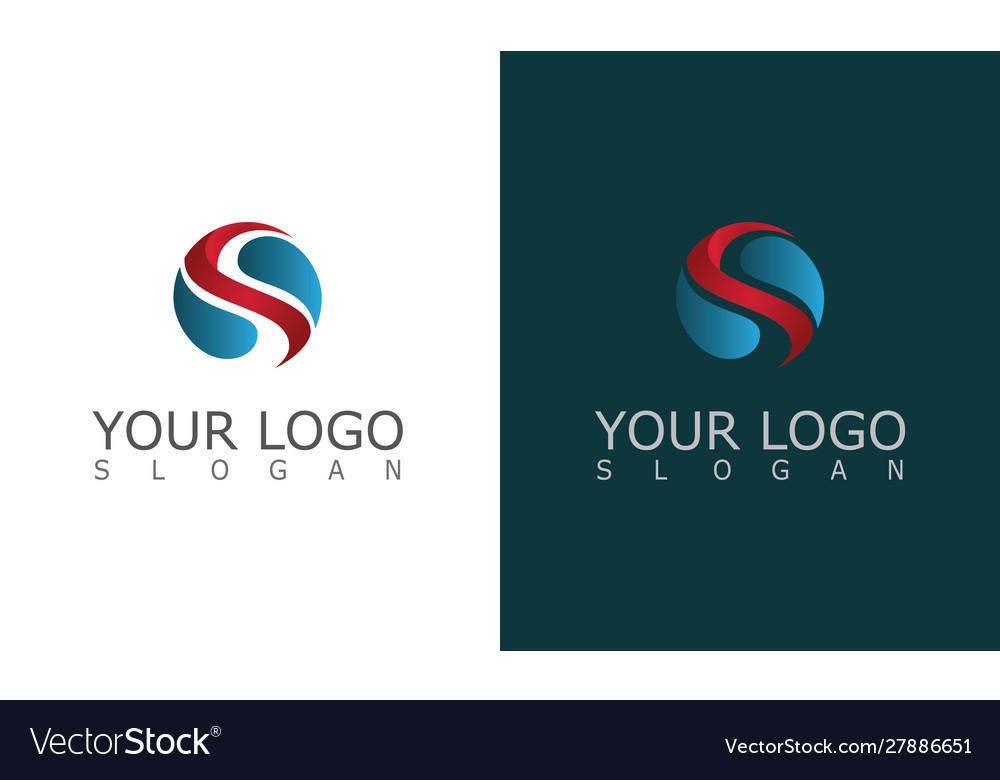 Round letter s 3d logo