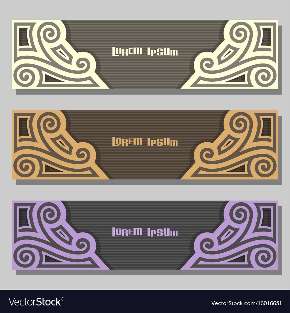 Set Of Wedding Banners Vector Image