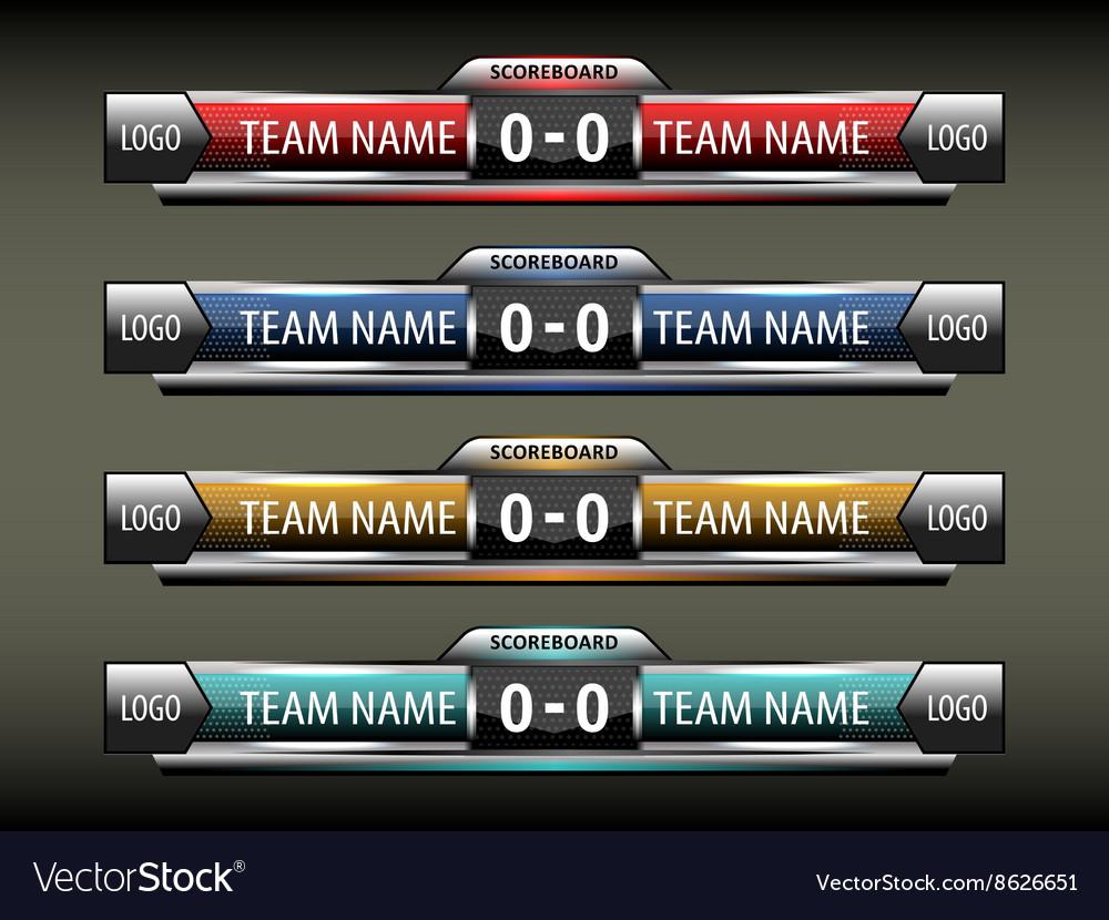 Sport scoreboard design template