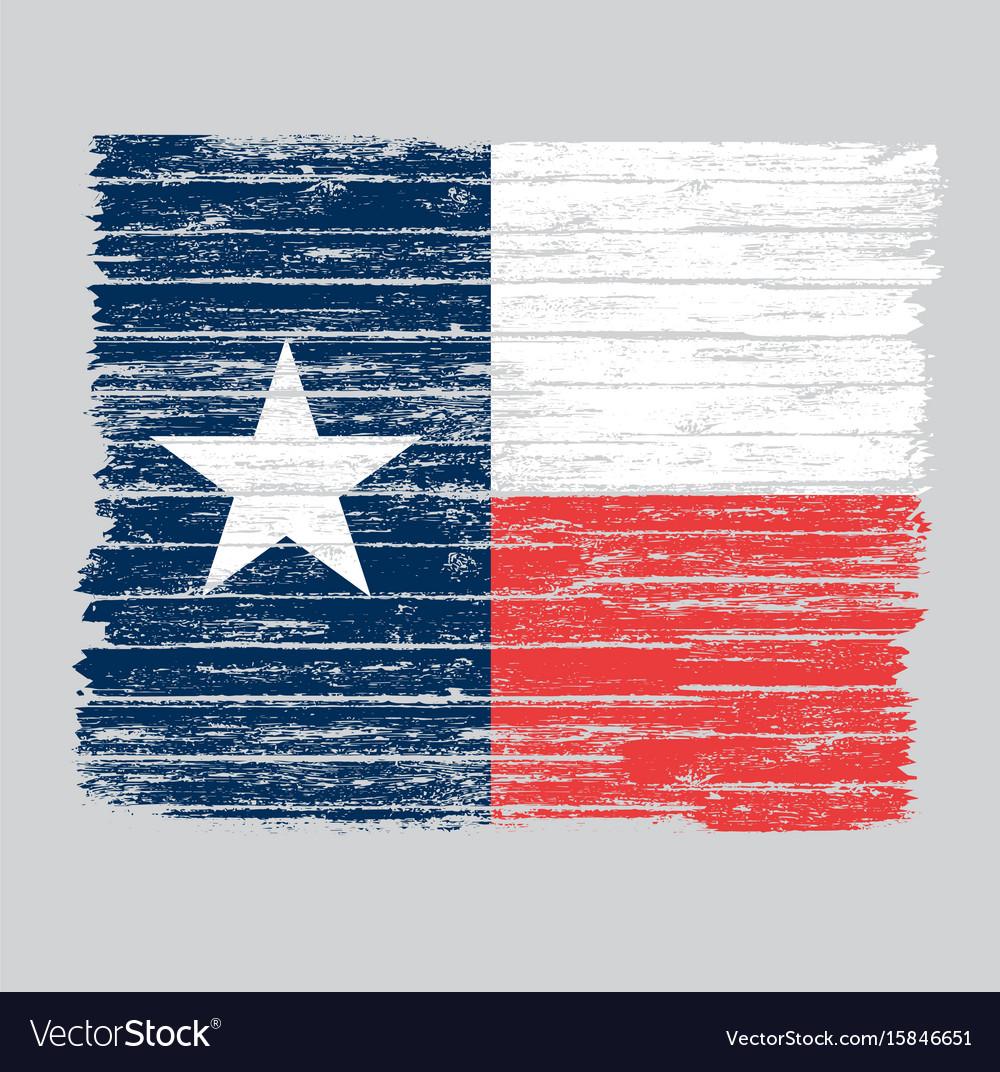 Wooden grunge texas flag