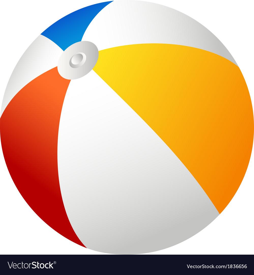 beach ball royalty free vector image vectorstock rh vectorstock com beach ball vector free download beach ball vector png