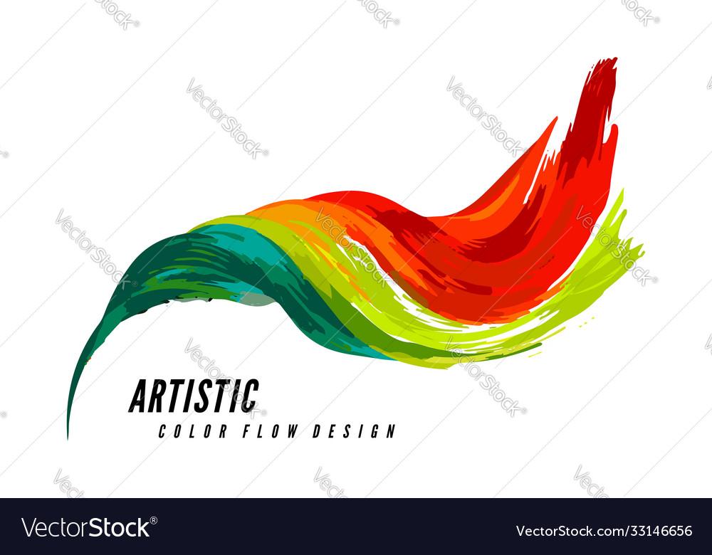 Colorful flow design trending wave liquid