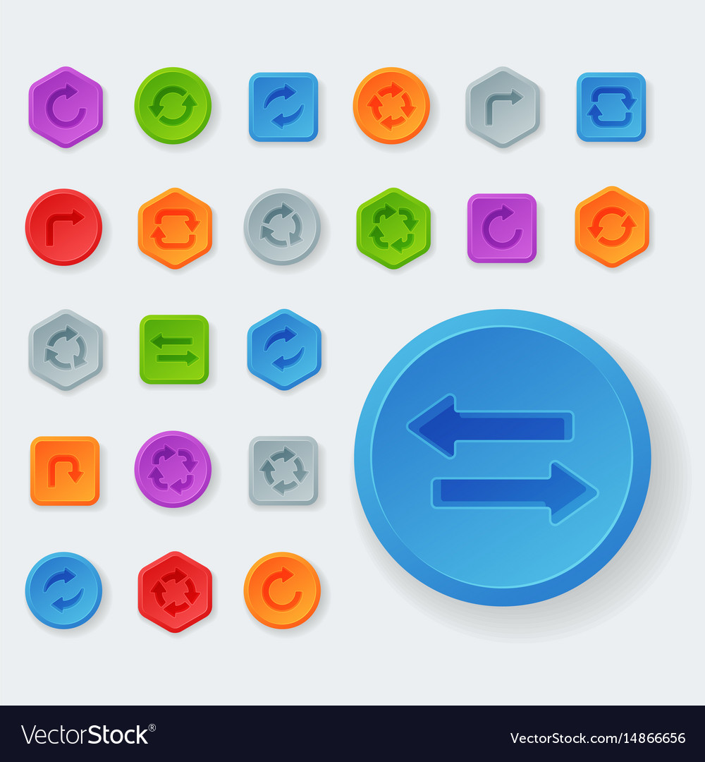 Colorful website turn buttons design