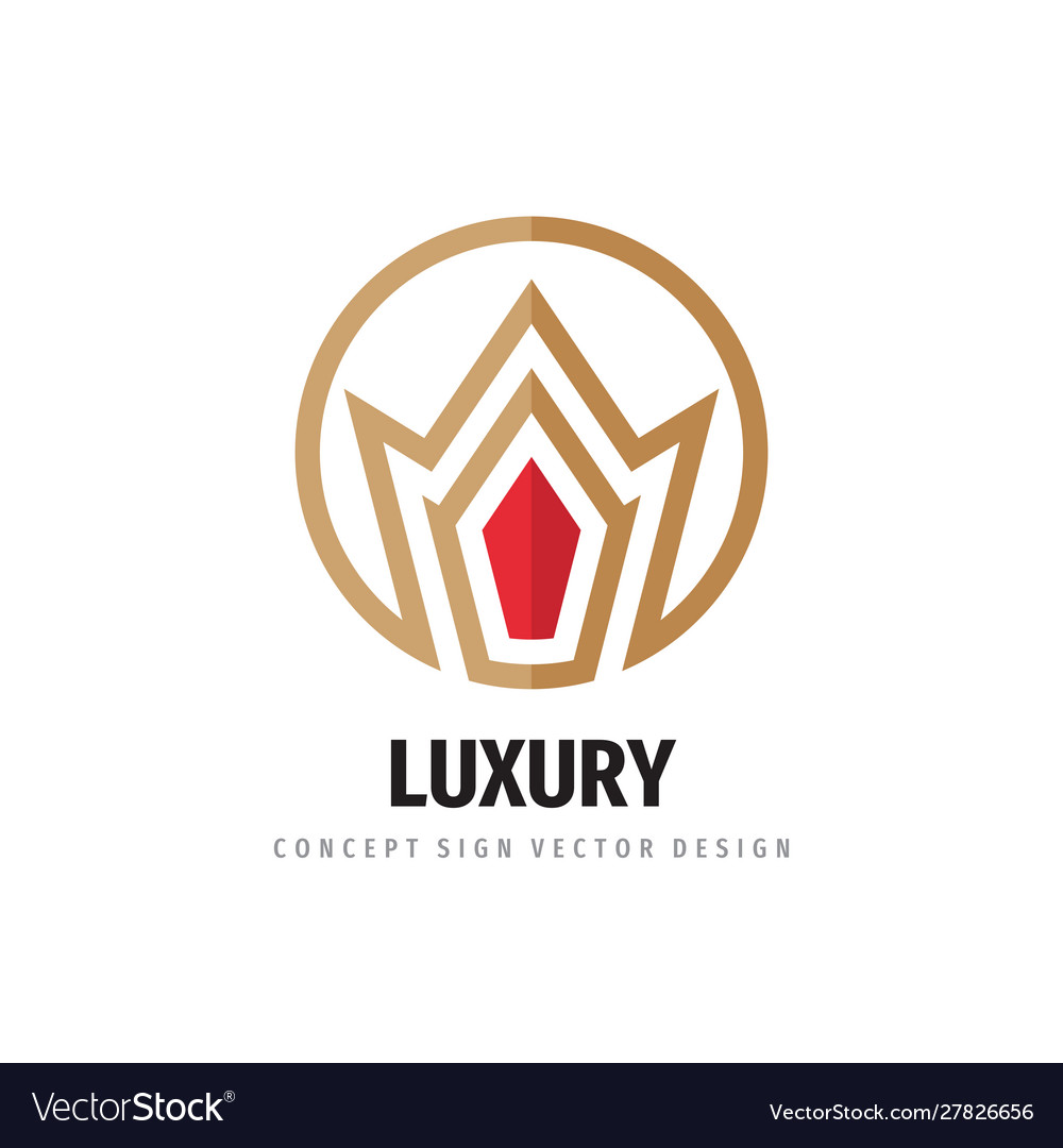 Crown logo template design luxury royal concept