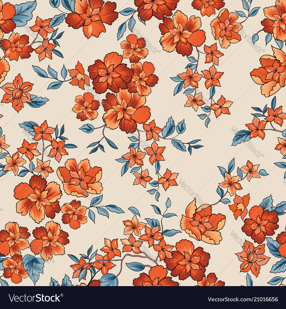 Floral seamless pattern abstract ornamental