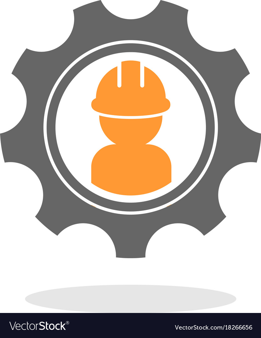 Gear Contractor Logo Royalty Free Vector Image