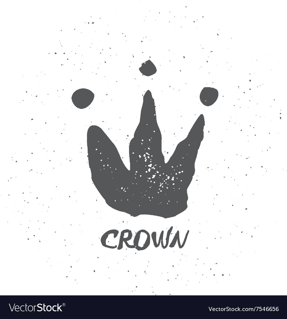 Hand drawn crown vector image