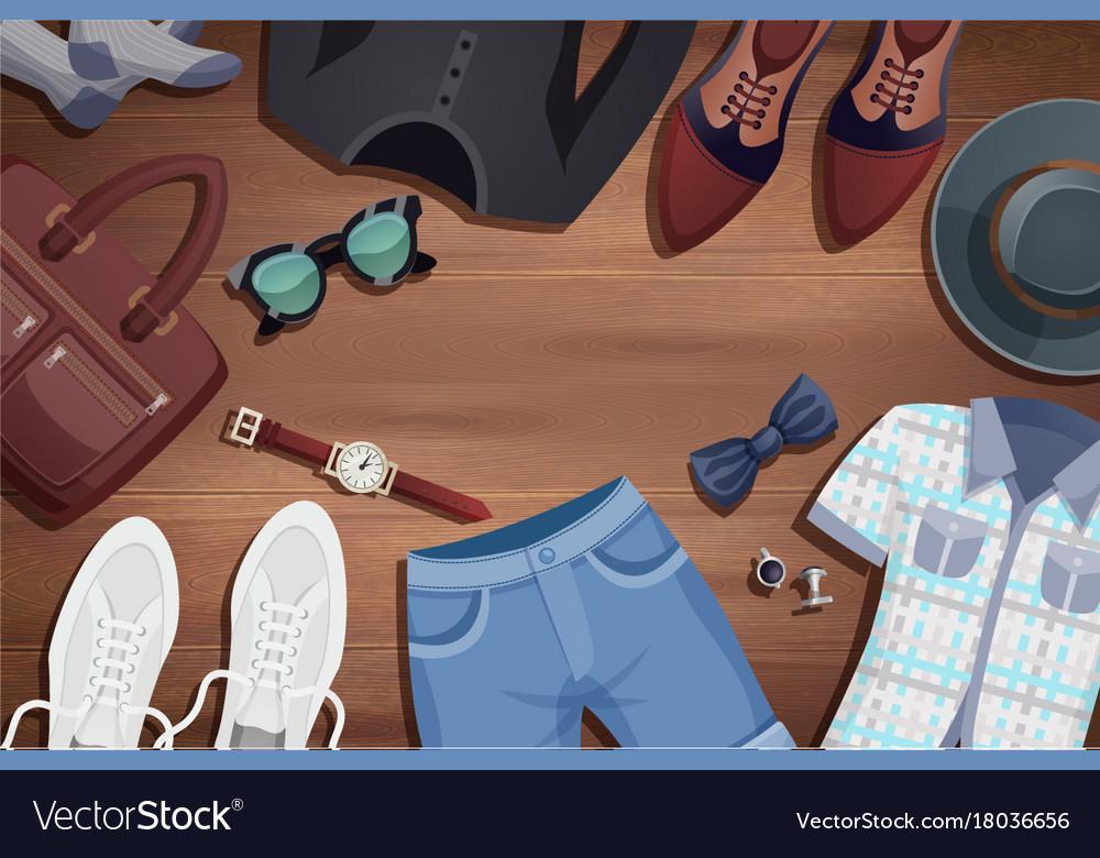 Men accessories background