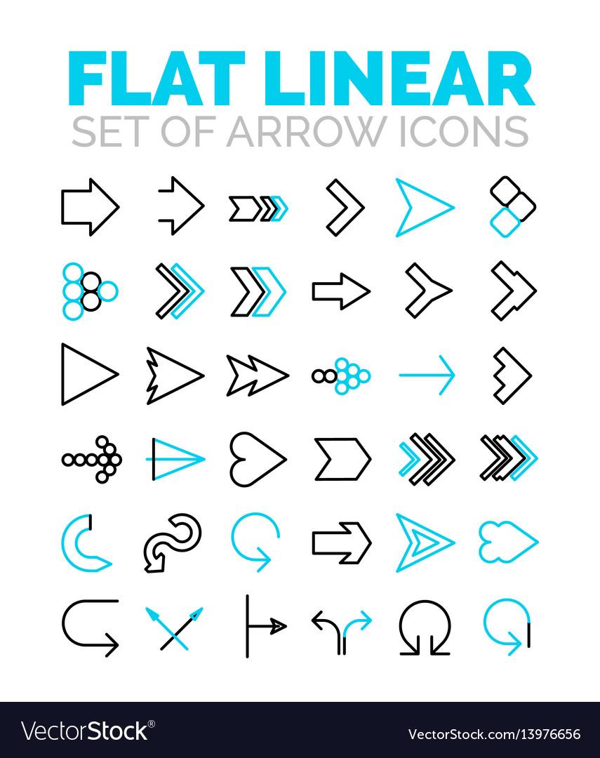 Set of flat linear premium icons