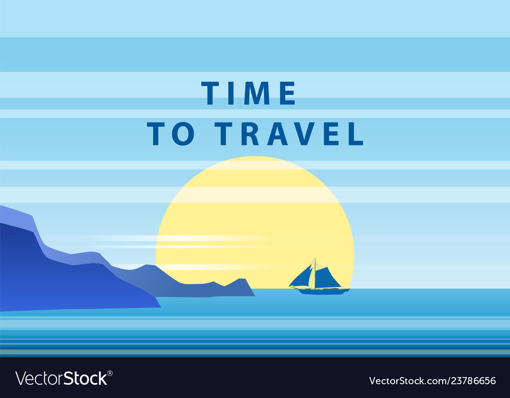 Summer sunny tropical backgrounds time to travel