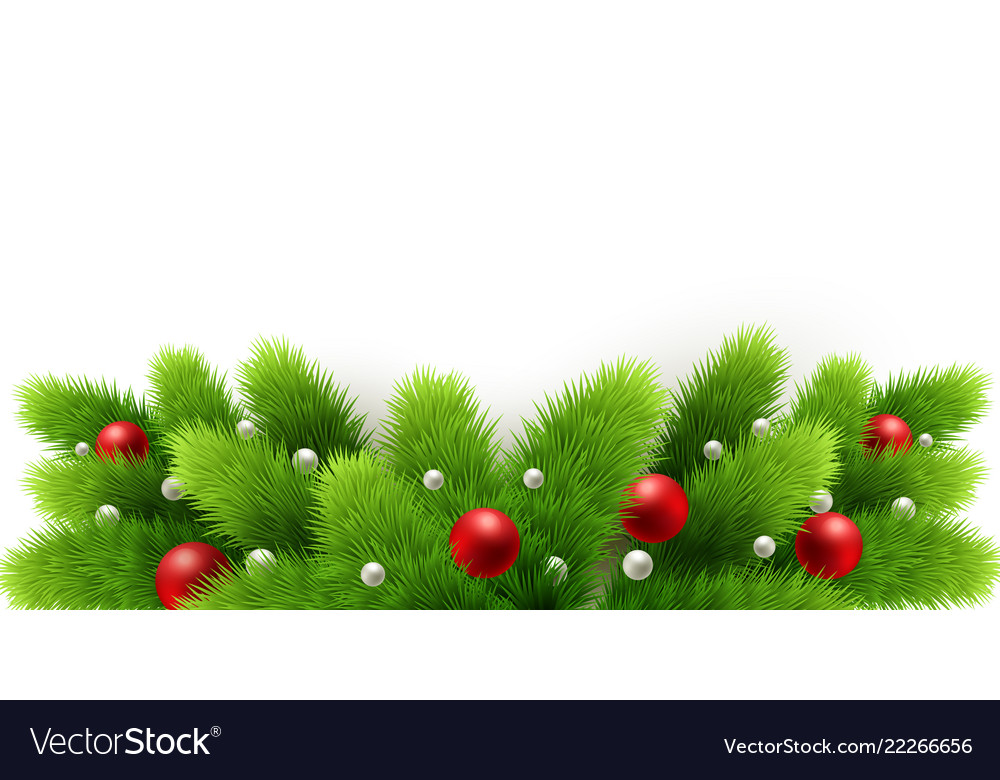 Winter holiday background border with christmas