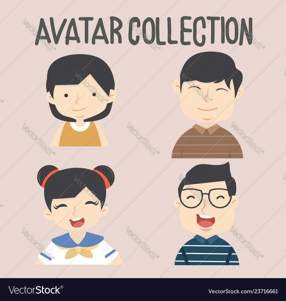 Avatar different people set