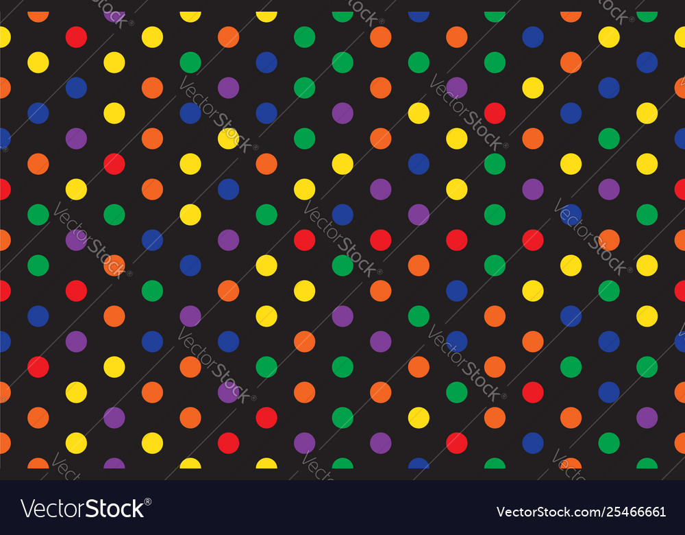 Circle pattern multi color dark abstract