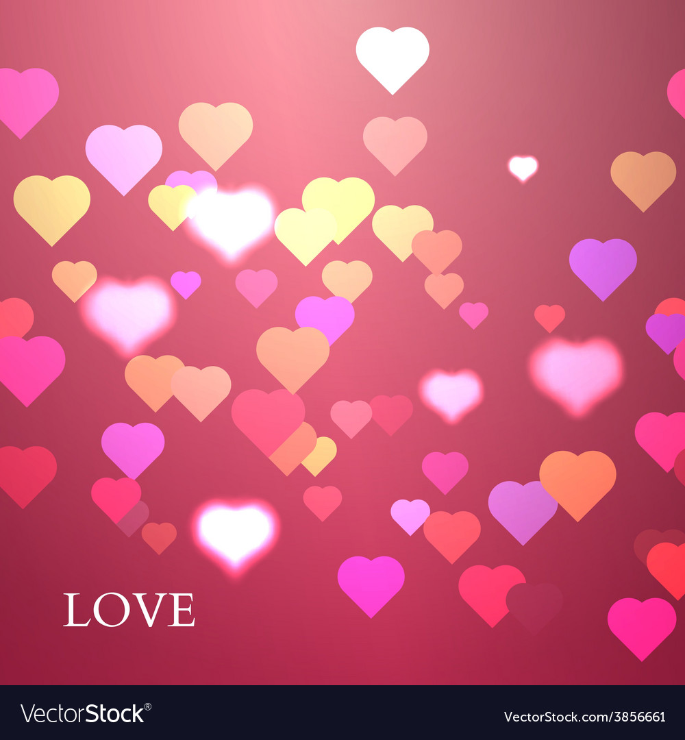 Colorful Hearts Background Valentine