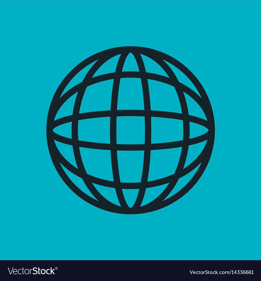 Globe connected icon world social network blue sky