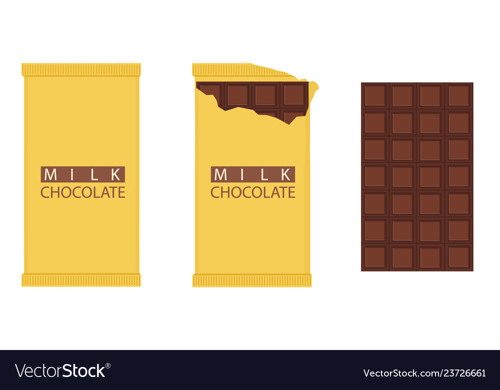 Set of chocolate bar chocolate bar package