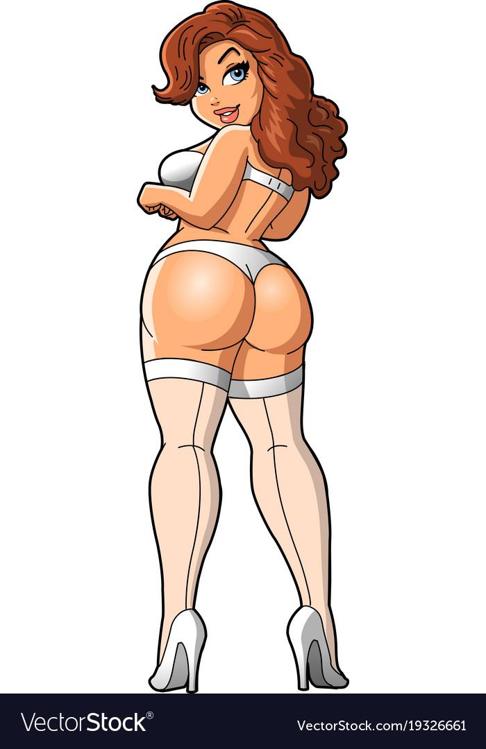 Sexy bbw curvy woman in underwear lingerie