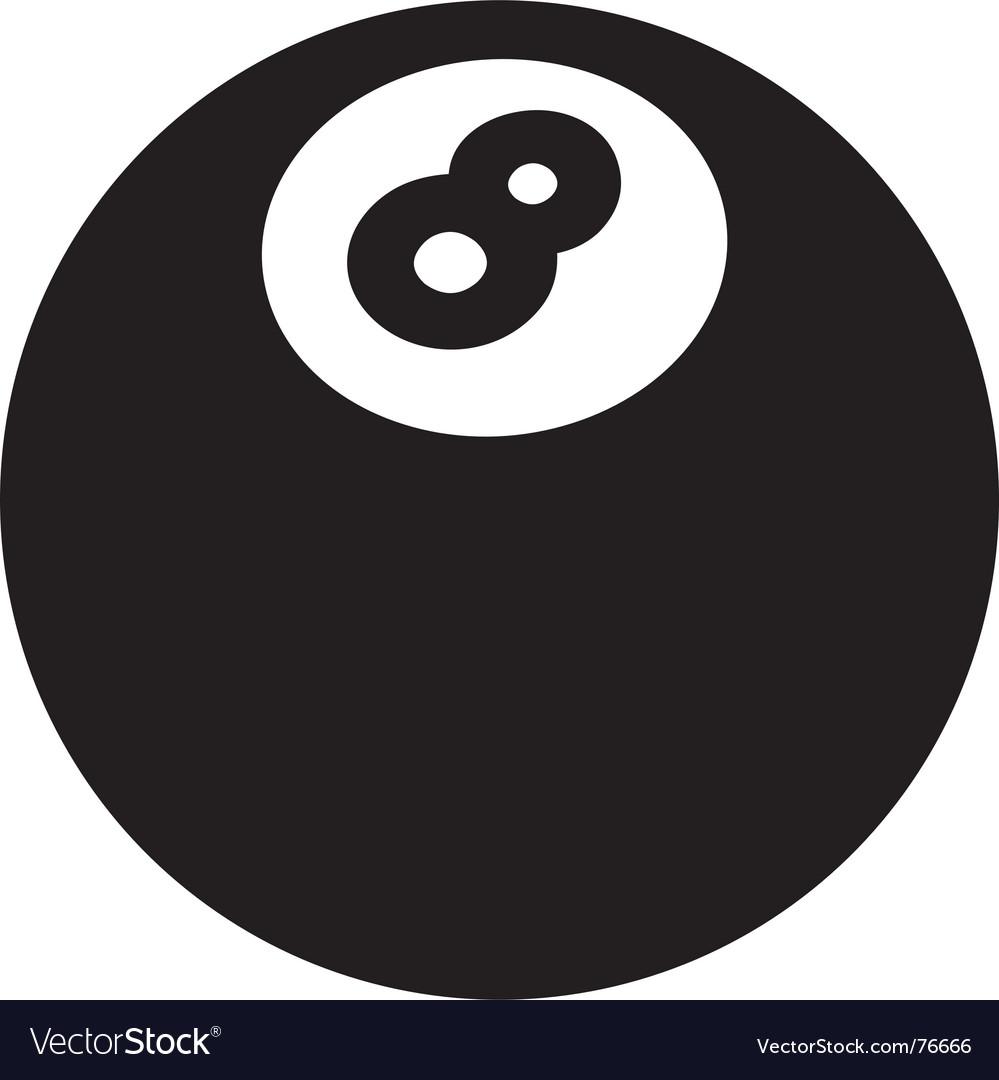8ball vector image