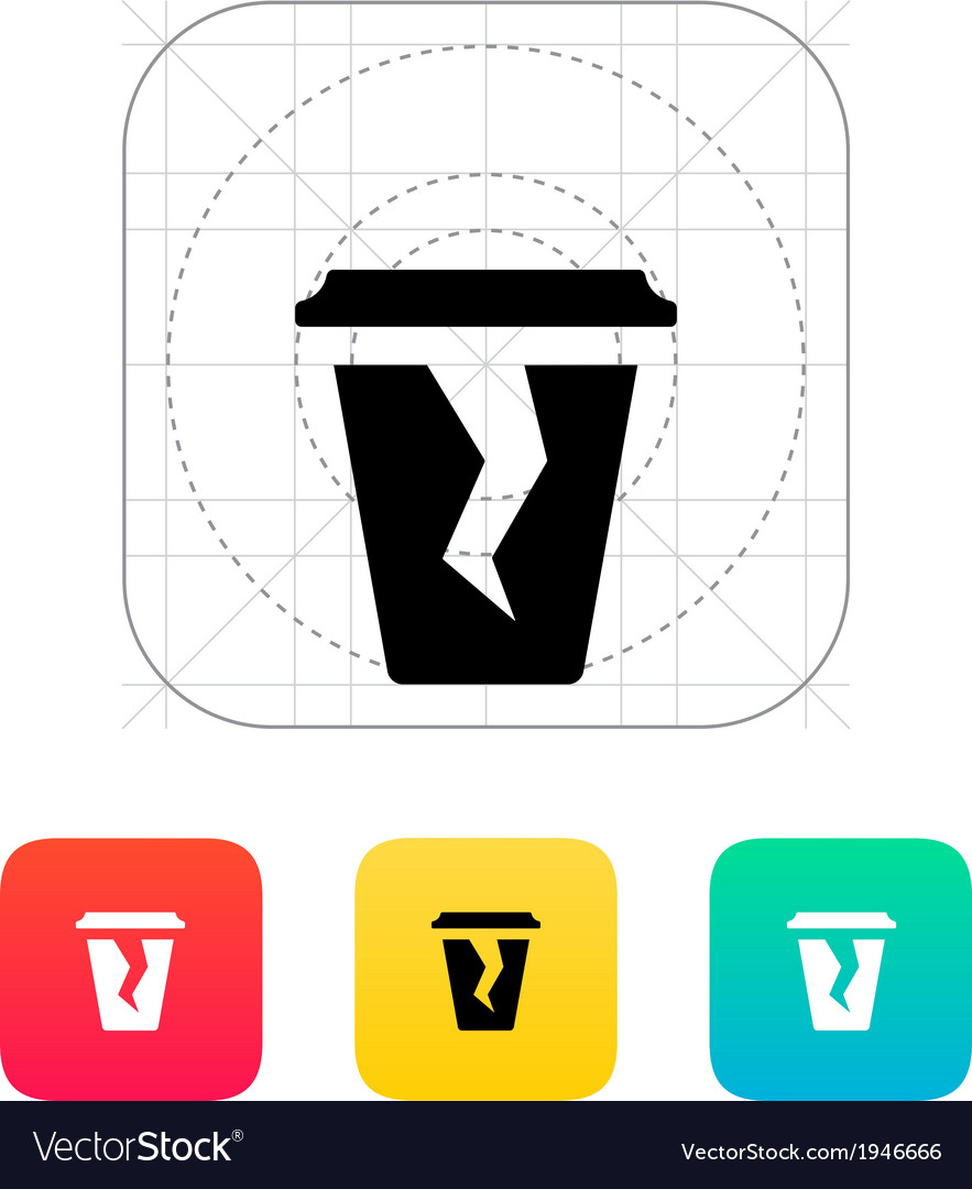Damaged cup icon