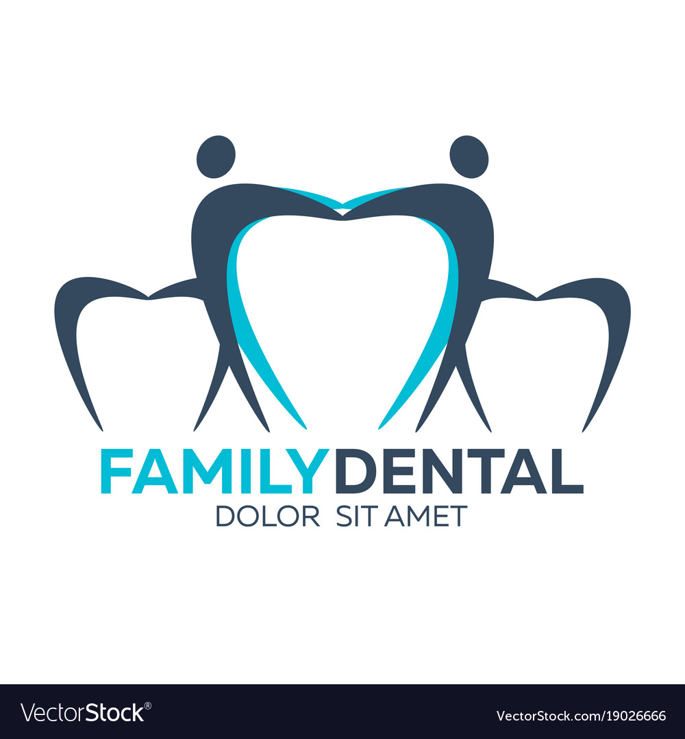 Family Dental Logo Dental Clinic Dentist Logo Vector Image