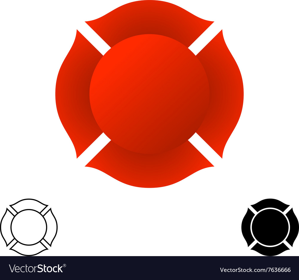 Firefighter emblem background silhouette Red color
