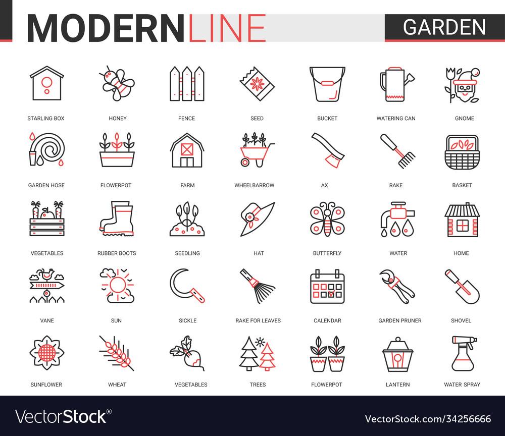 Garden farm tools flat icon