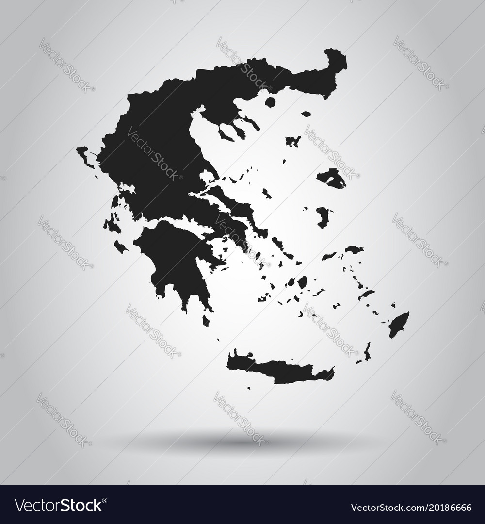 Greece map black icon on white background