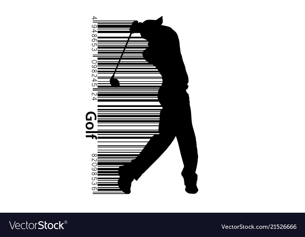 Silhouette a golf player