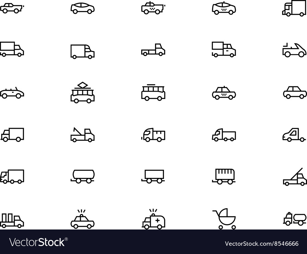 Vehicles Line Icons 3