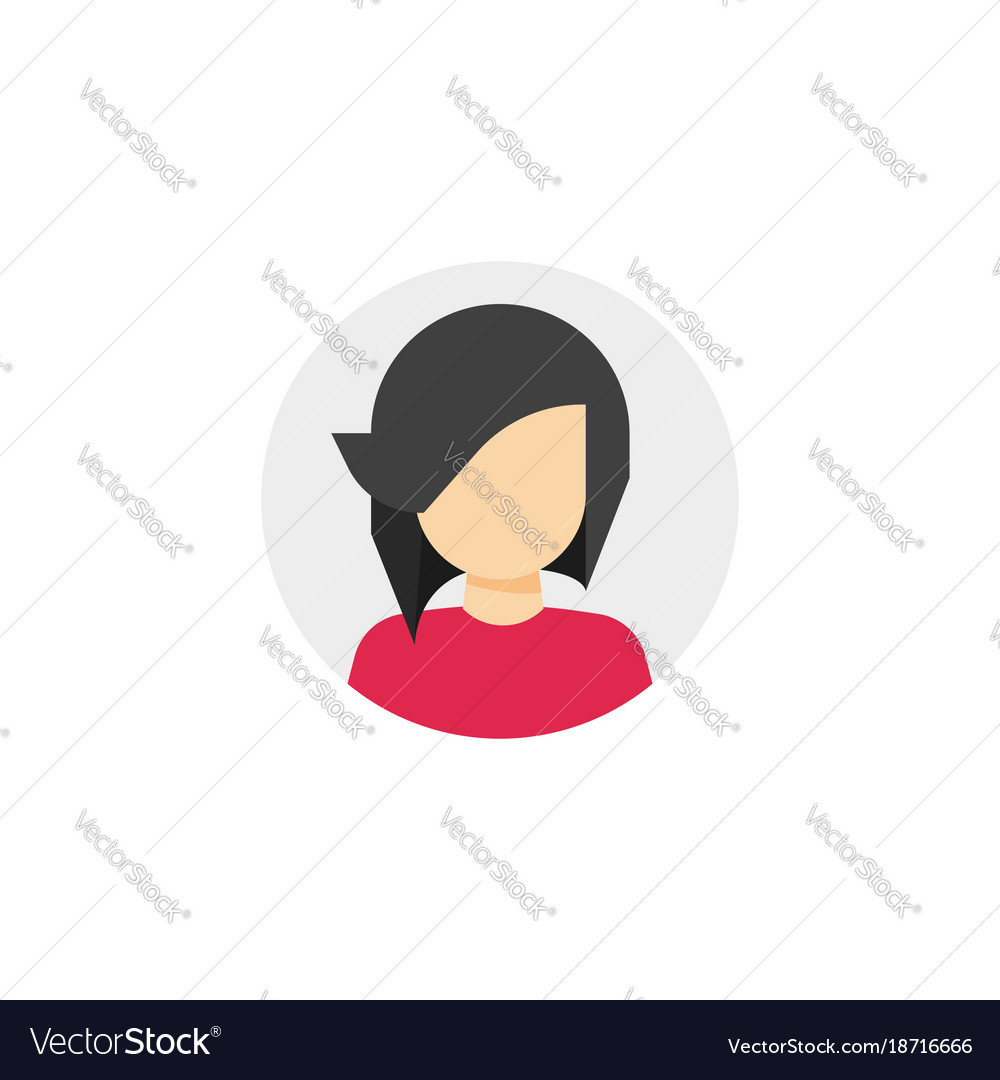 Woman face in circle icon