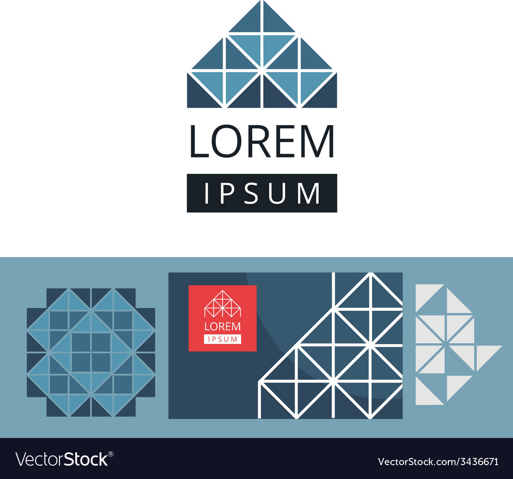 Abstract modern geometric background and logo