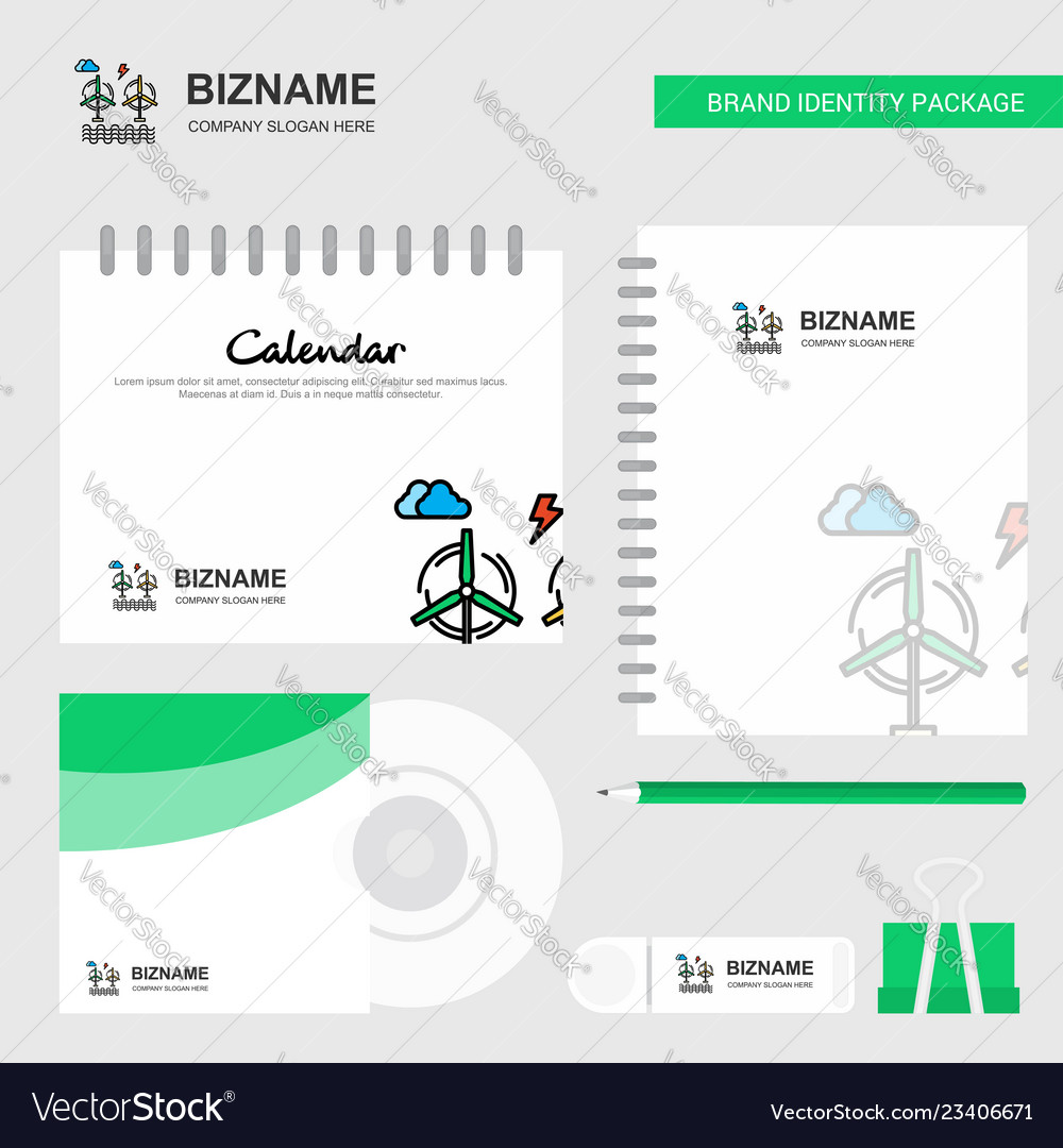 Air turbine logo calendar template cd cover diary